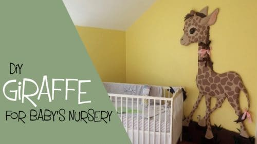 Baby Giraffe wall sculpture for baby nursery.