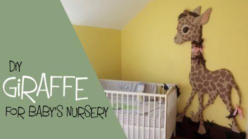 Baby Giraffe wall sculpture for baby nursery.