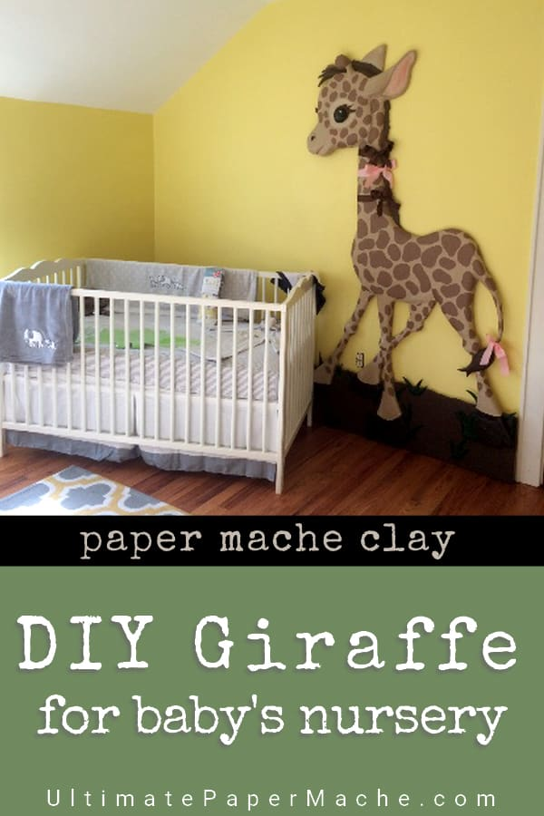 Make this Baby Giraffe wall sculpture for baby nursery.