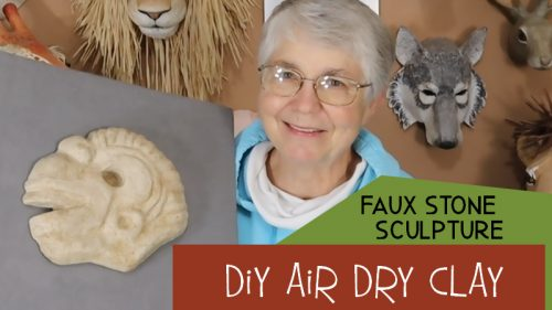 faux stone air dry clay sculpture