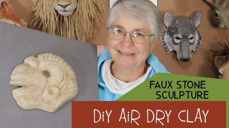 faux stone air dry clay sculpture