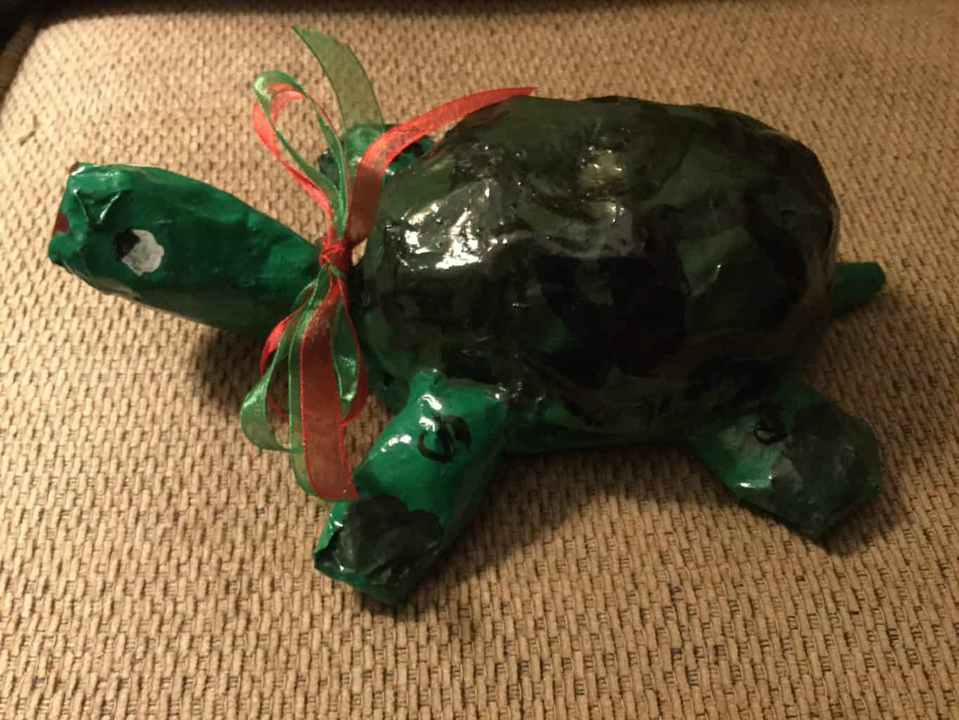 Even a 5 year old can do paper mache!