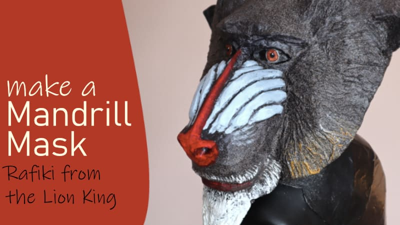 Make a Mandrill Mask for Rafiki in the Lion King Play
