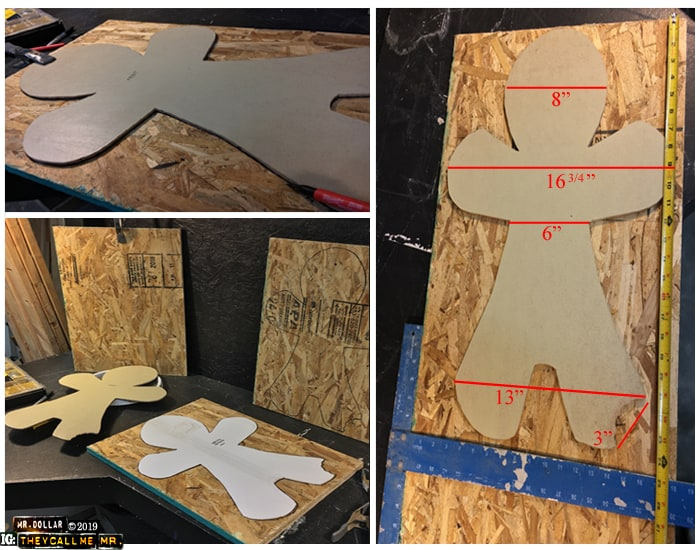 Putting the Giant Gingermen pattern on OSB plywood