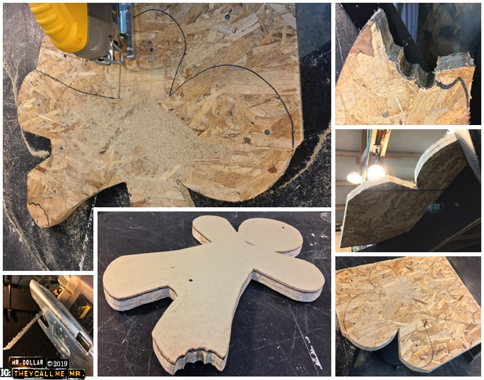 Cutting out the OSB Ginger Men