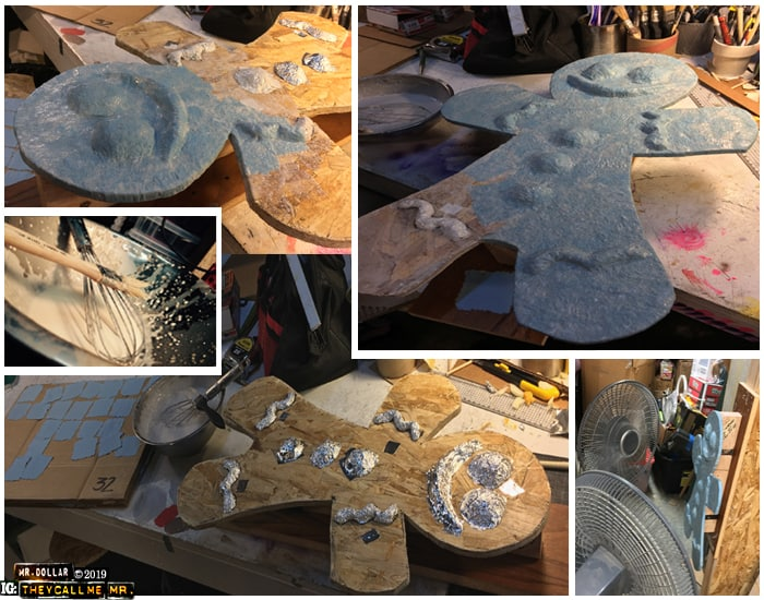 Adding Paper Mache to the Giant Gingermen
