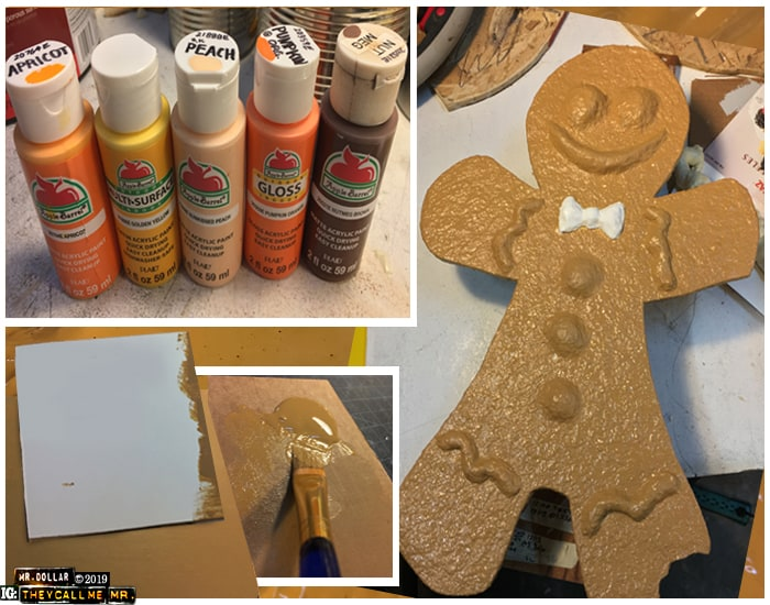 Painting the Giant Gingerbread Men