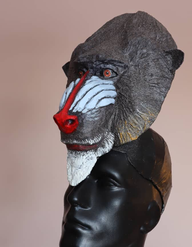Mandrill Mask Pattern