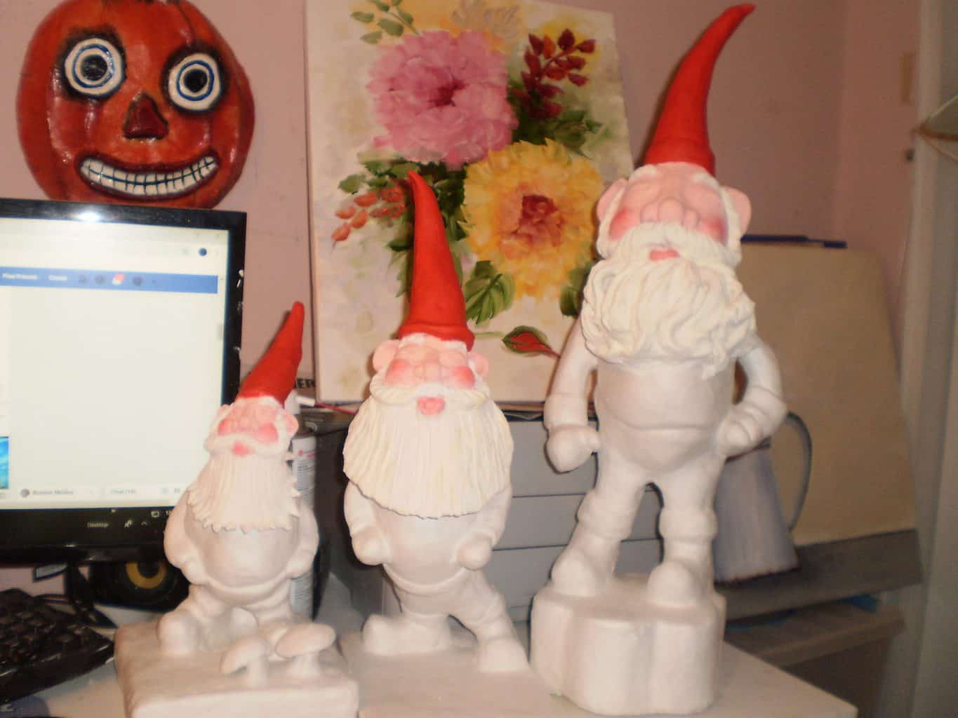 3 gnomes made with DAS Clay