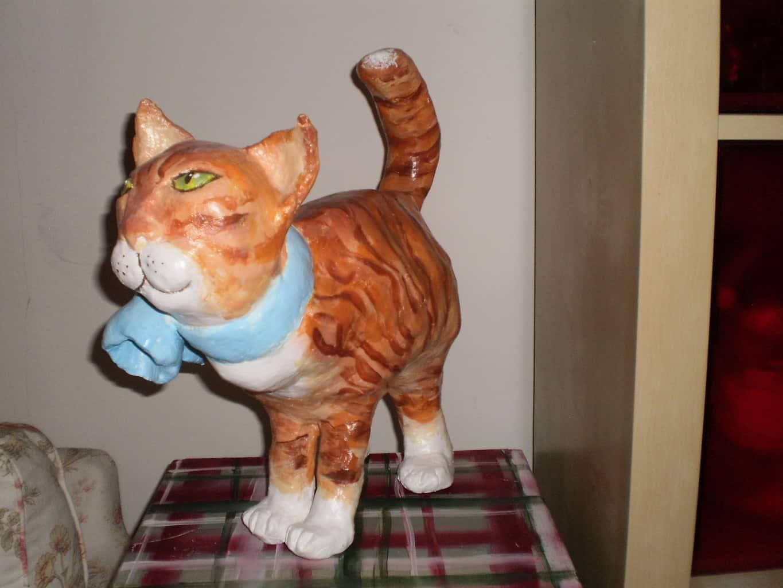 Paper Mache Kitty