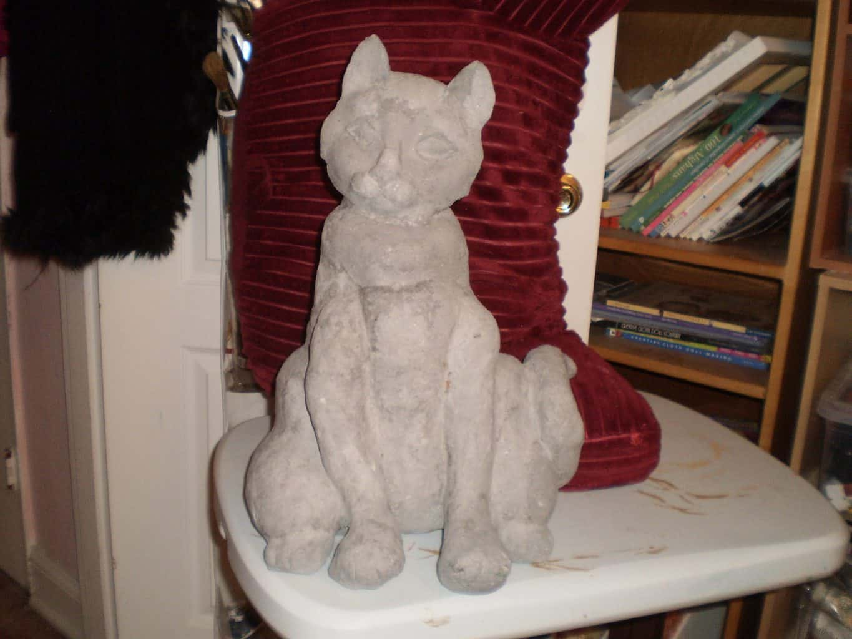 Cat Sculpt Using Jonni's Cat Mask for His Face