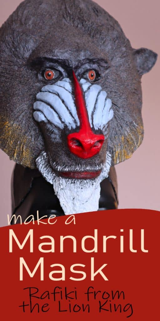 Mandrill Mask Pattern - Rafiki from the Lion King