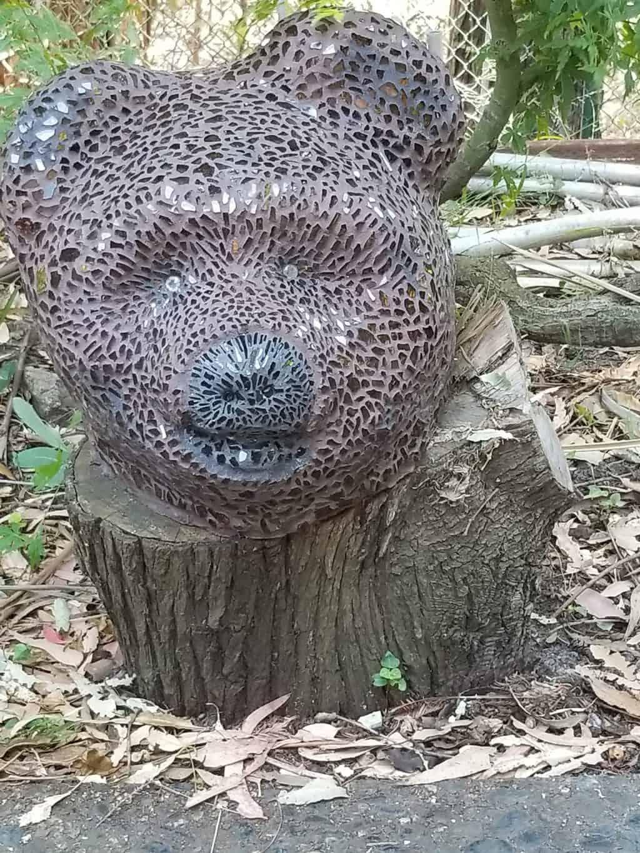 mosaic bear head