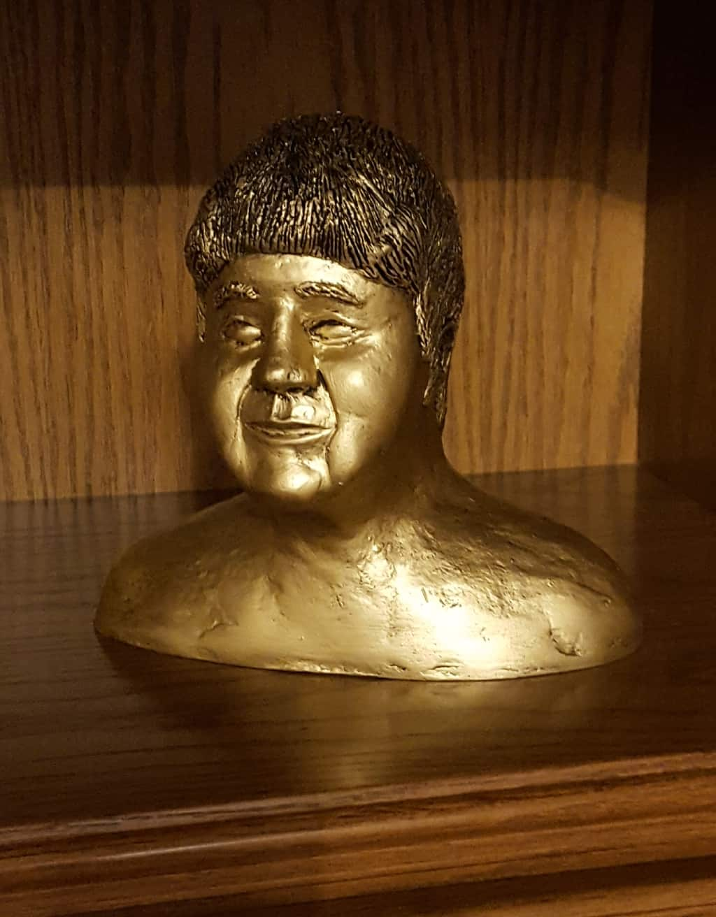 Bust made with paper mache clay