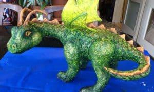 paper mache dragon