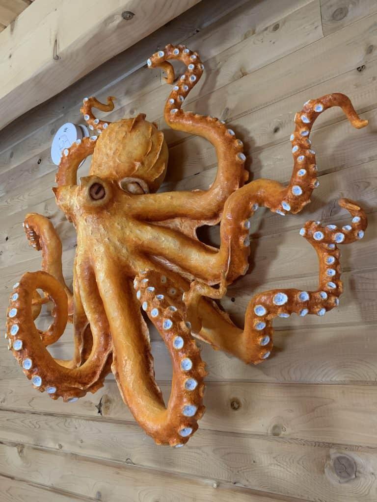 Paper Mache Octopus Side View