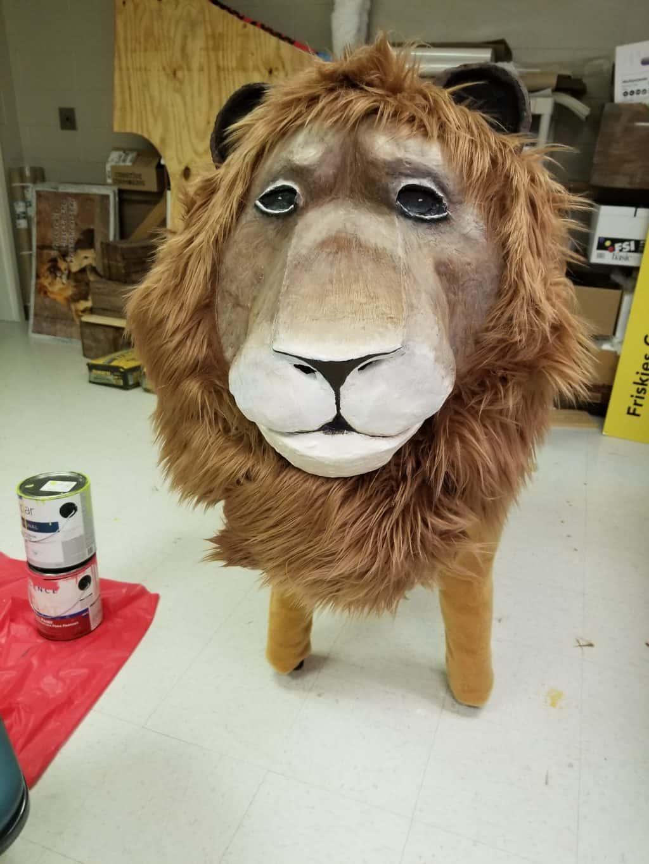 Paper Mache Lion Face