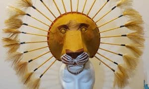 Mufasa mask for the Lion King play