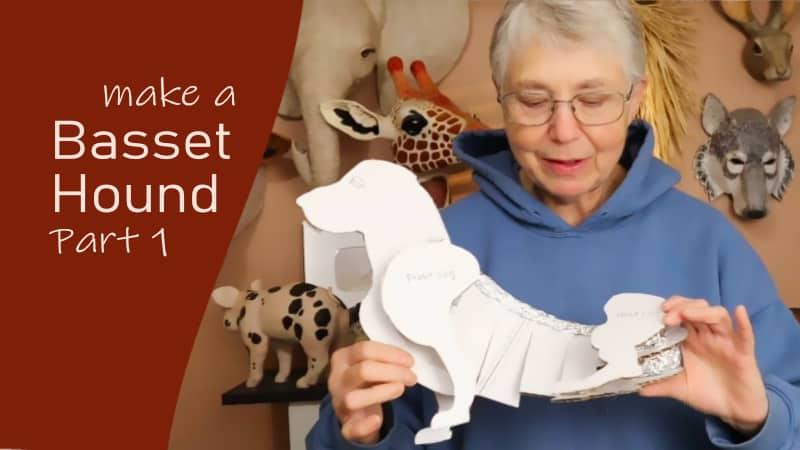 Make a paper mache dog - basset hound, part 1.