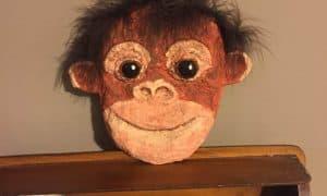 paper mache baby orangutan