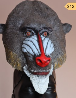 Rafiki, mandrill headdress mask