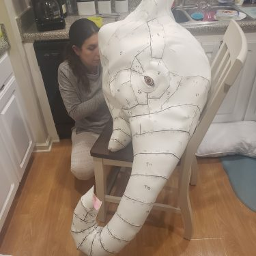 Large elephant head made with EVA foam