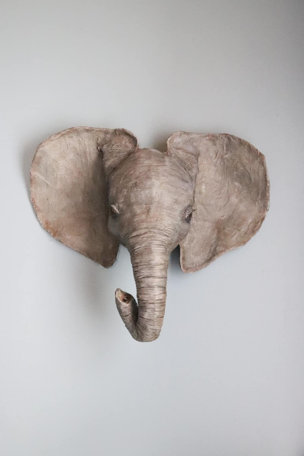 elephant head wall sculpture