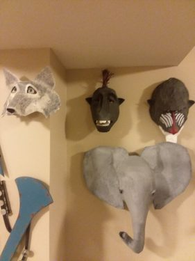 Paper mache mask collection