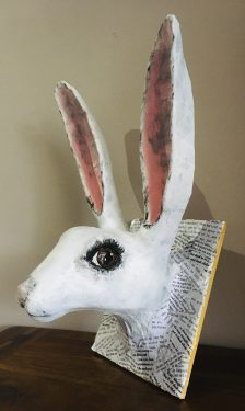 White Rabbit Sculpture - Alice in Wonderland