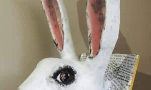 White Rabbit Sculpture - Alice in Wonderland