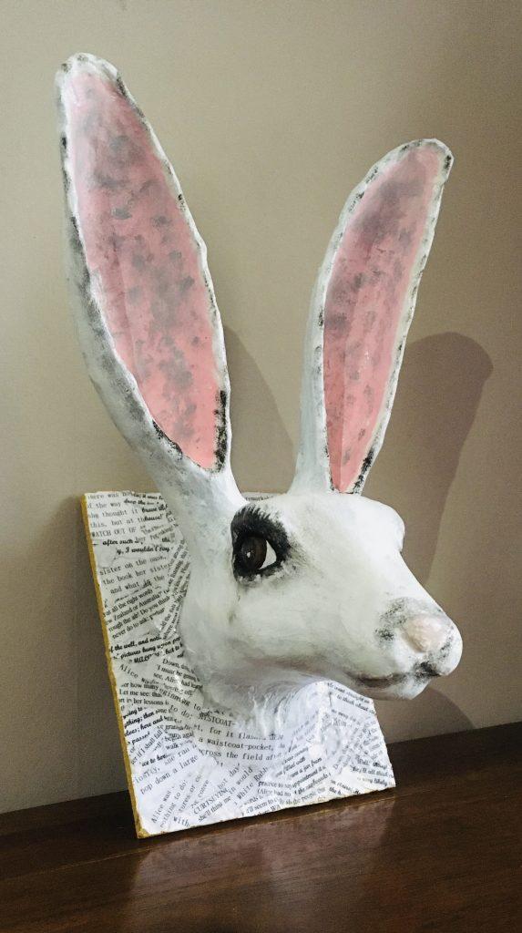 Alice in Wonderland White Rabbit Sculpture