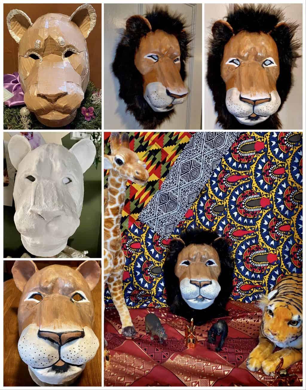 Lion Mask with Fur Mane