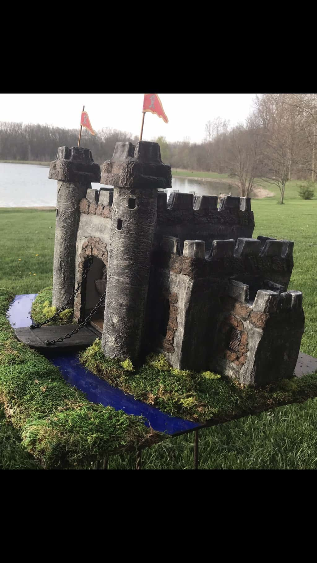 Castle made with paper mache clay