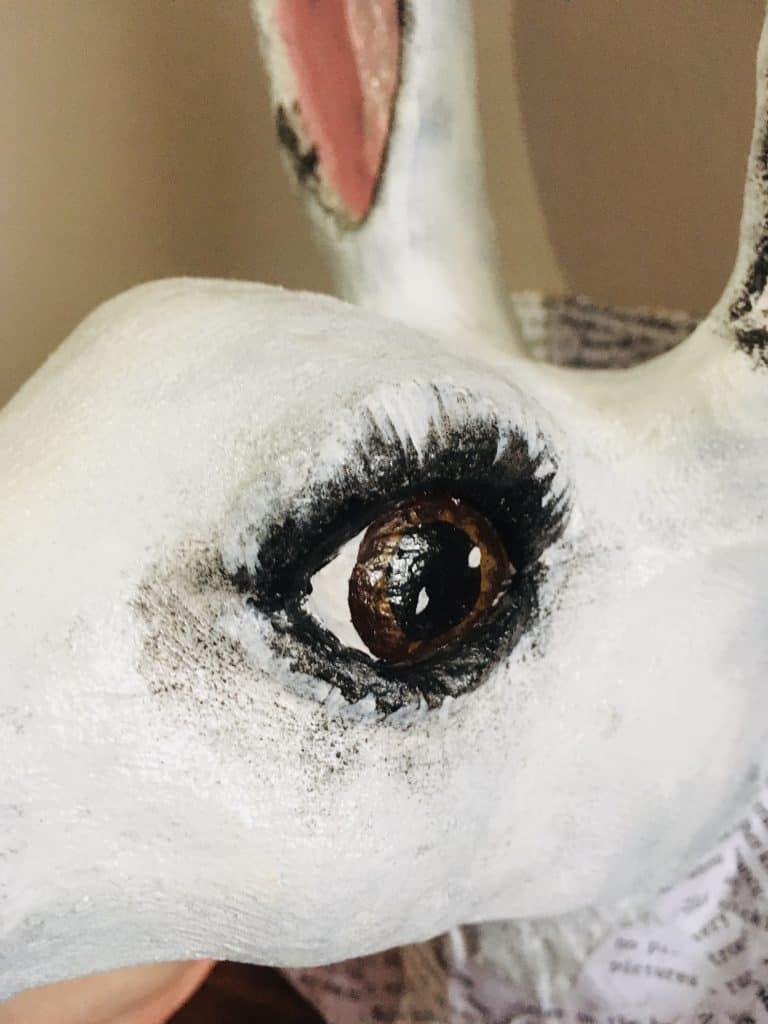 Eye of Alice in Wonderland White Rabbit Sculpture