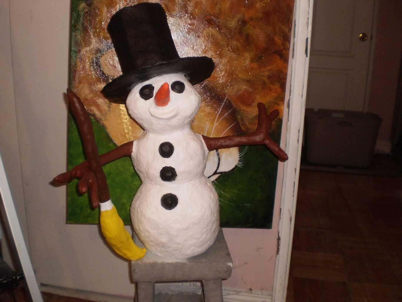 Sir Frosty, Paper Mache Snowman