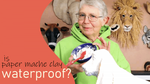 Is paper mache clay waterproof?