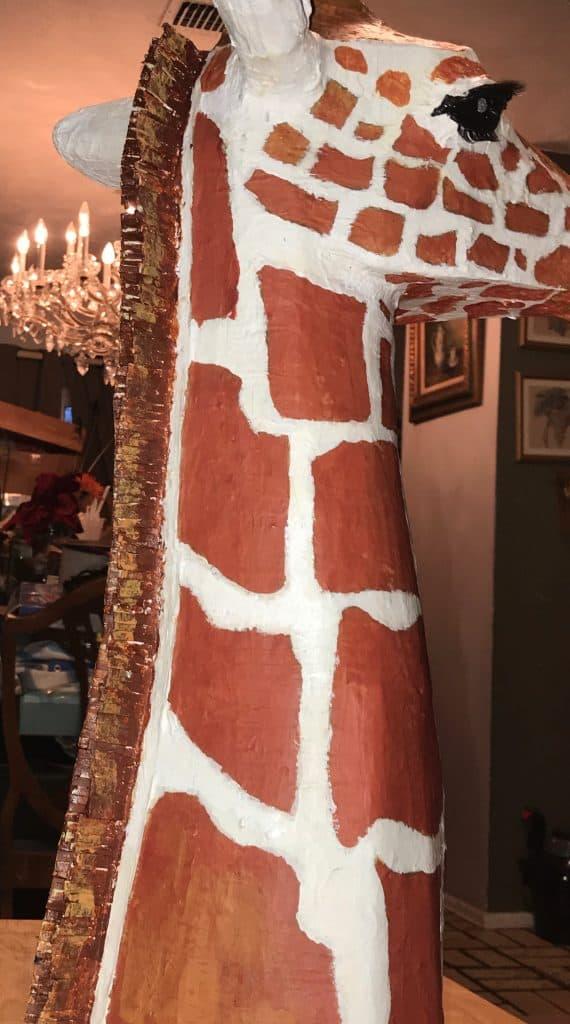 Jeffry the paper mache giraffe