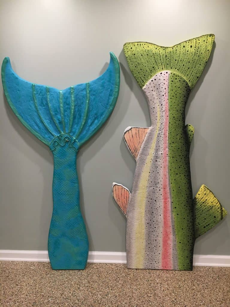 Mermaid tail with trout