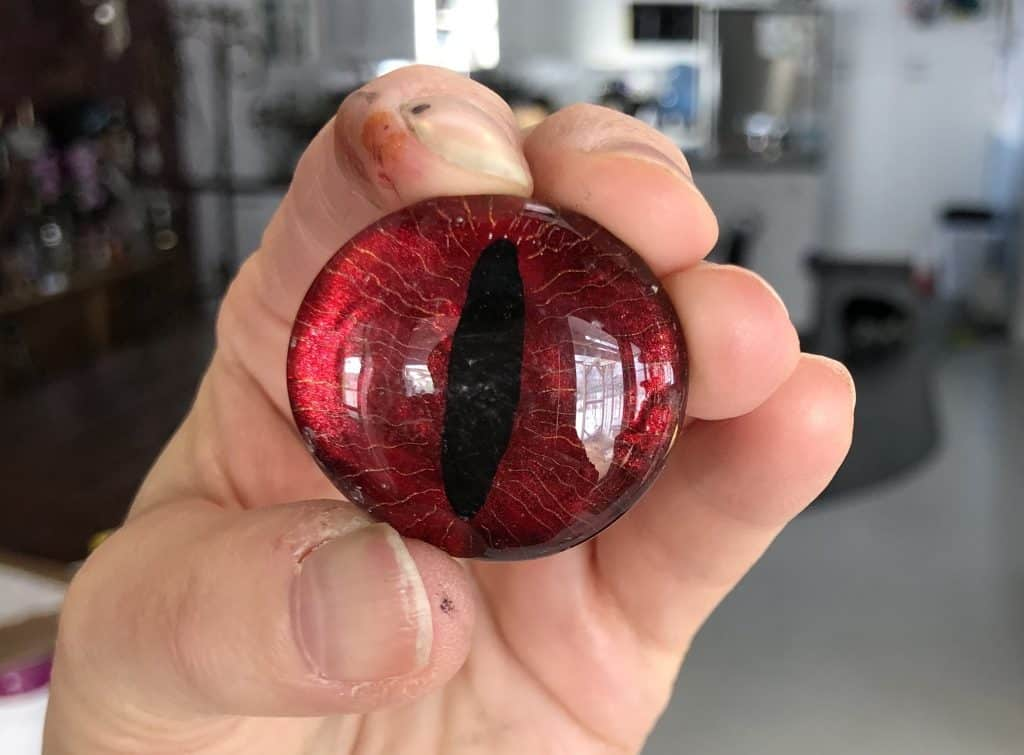 Painted glass dragon eye.