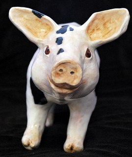 Paper mache pig by Rex Winn