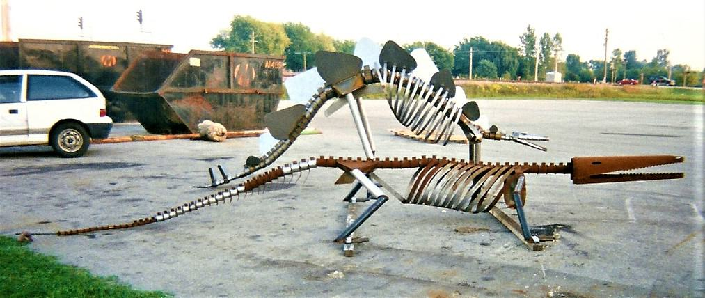 Metal Art Dinosaur