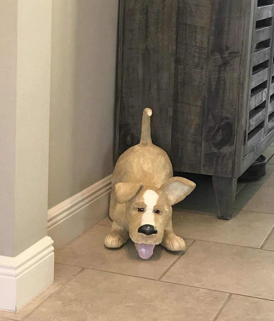 Playful Paper Mache Dog