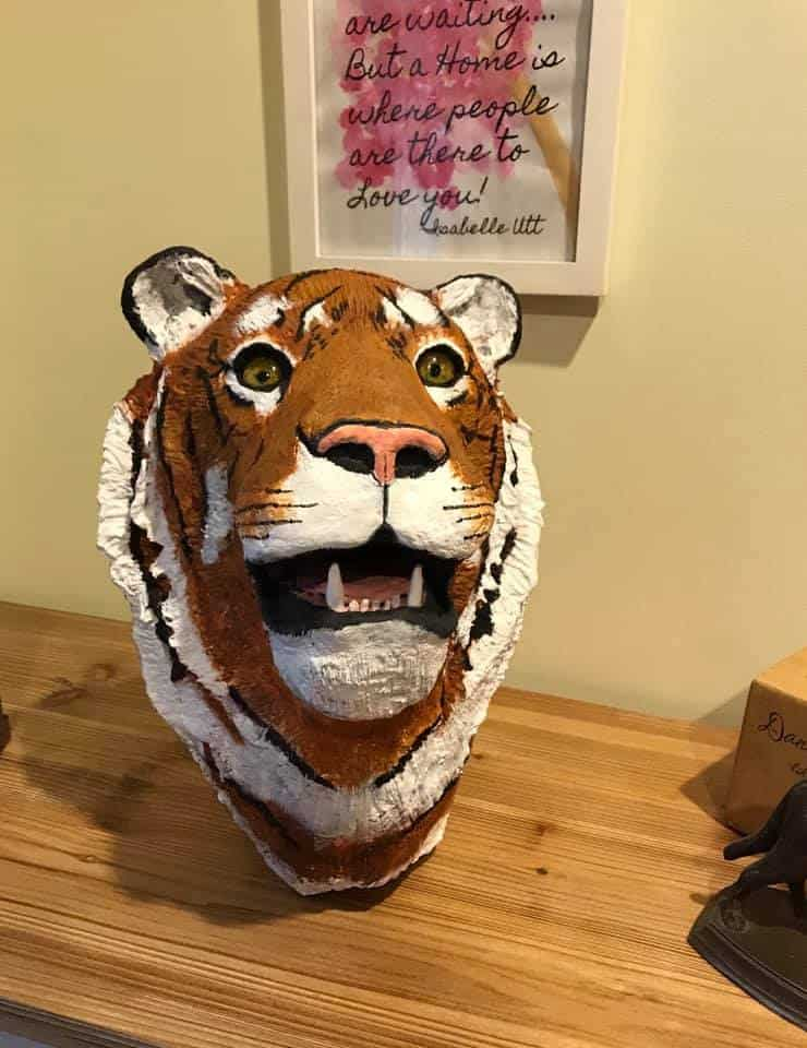 Pia Blackwell's Tiger Sculpture