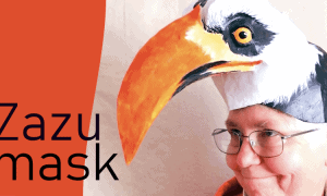 Zazu headdress mask pattern for the Lion King Play