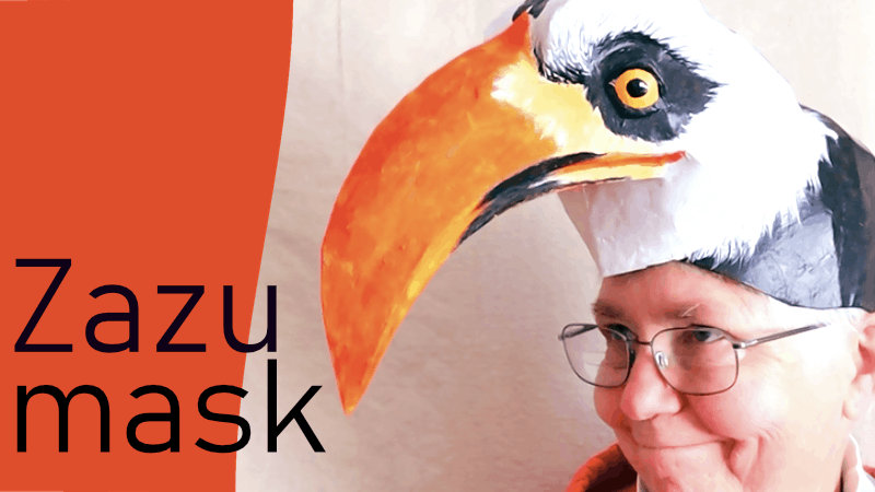 Zazu headdress mask pattern for the Lion King Play