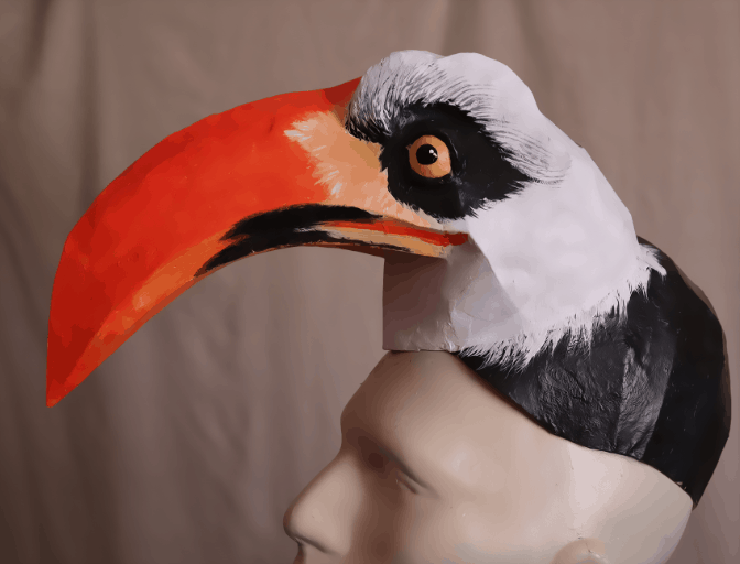 Zazu headdress mask pattern.