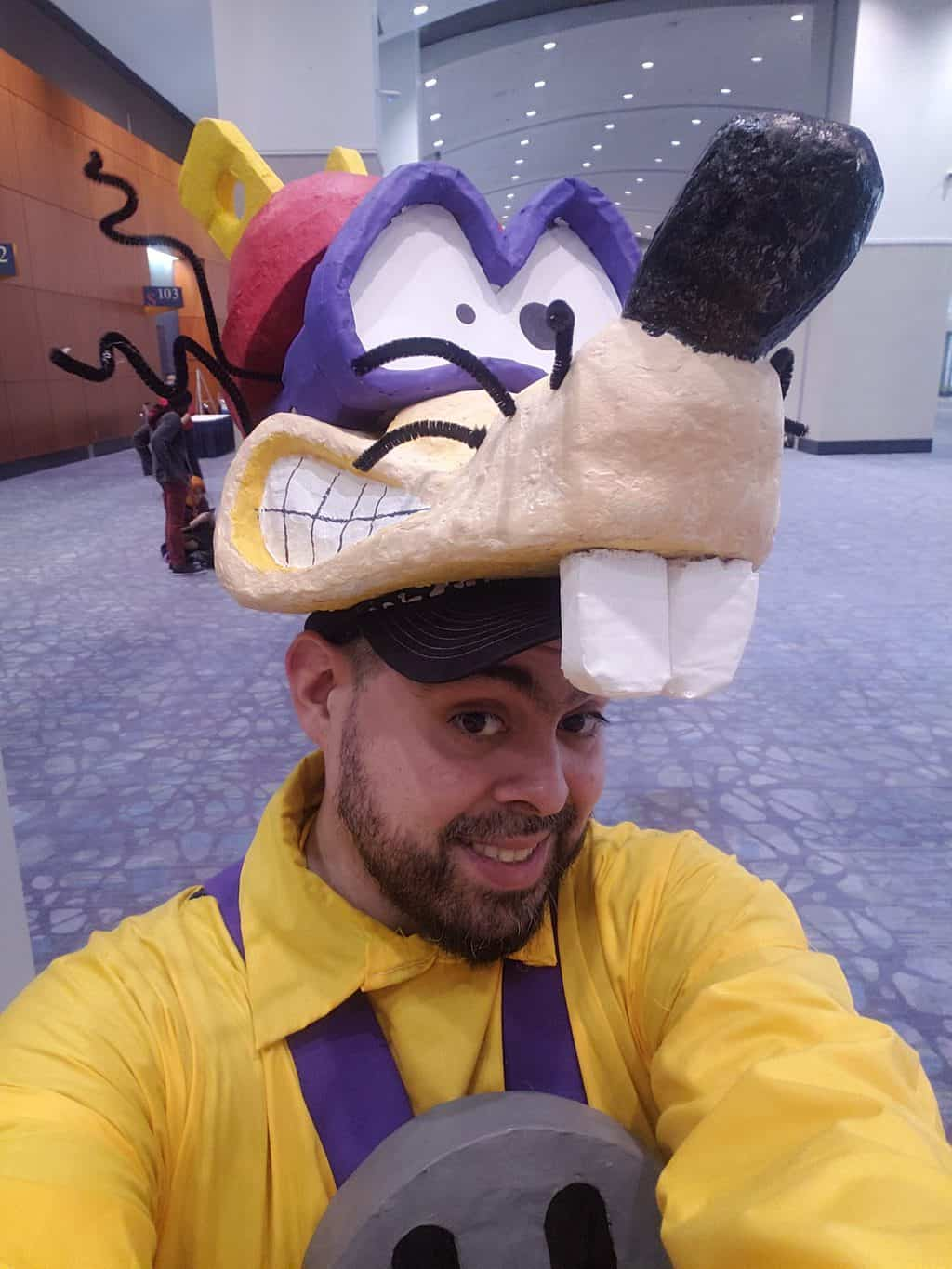 Megavolt Cosplay Headpiece made with paper mache clay