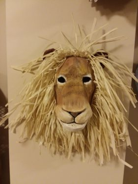 Lion Mask with Raffia Mane