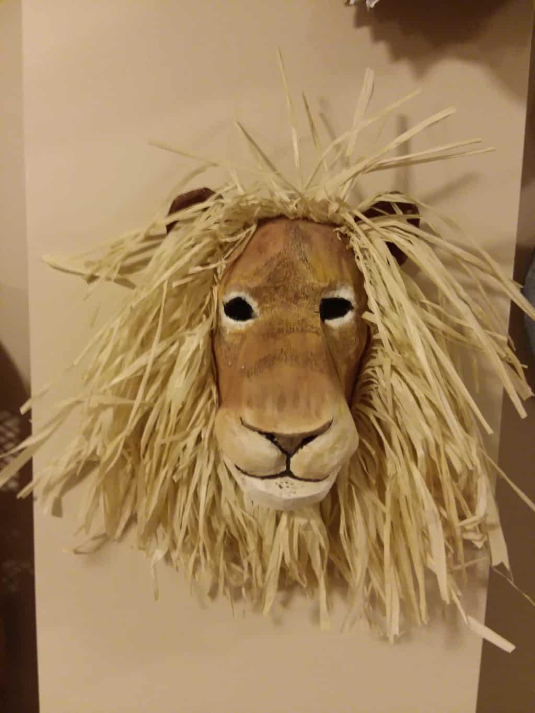 Lion Mask with Raffia Mane