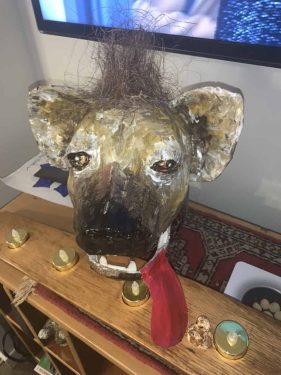 Hyena mask for the Lion King play